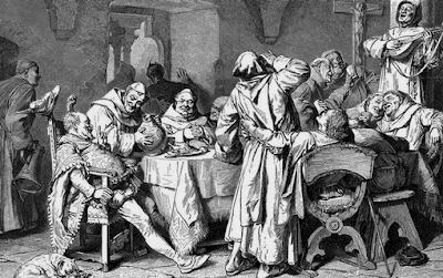 monges escoceses bebendo uísque