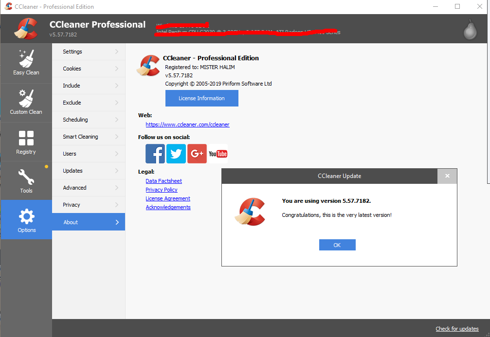 ccleaner professional 5.57 Serial key 2019(without crack)