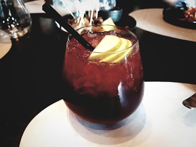 Burnt Wood Drink - B+F Open Flame Kitchen, 360 Mall, Kuwait