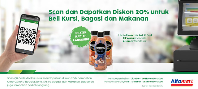 #Citilink - #Promo Bayar Kode Booking di Alfamart Dapat Gratis Nescafe PET 220 ML (s.d 30 Nov 2020)