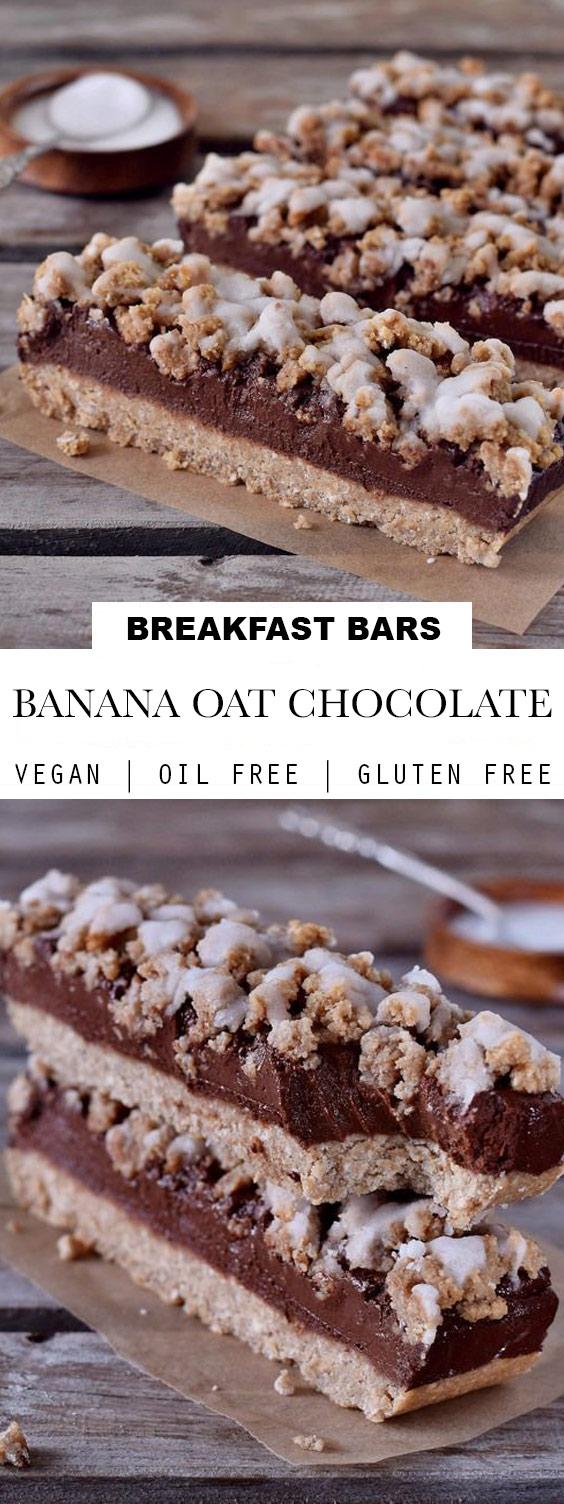 Gluten Free + Vegan Banana Oat Bars