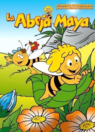 Dibujo de portada de la abeja Maya
