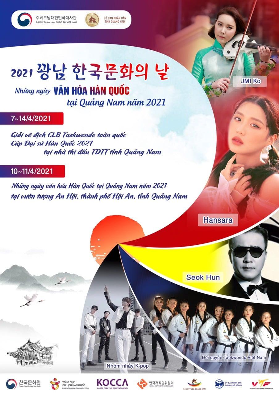 """Sự kiện: """"Những ngày Văn hóa Hàn Quốc tại Quảng Nam"""" năm 2021"""