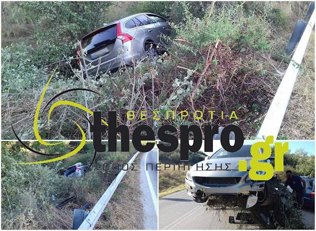 Τροχαίο ατύχημα τα ξημερώματα στο Ράγιο Θεσπρωτίας (+ΦΩΤΟ)