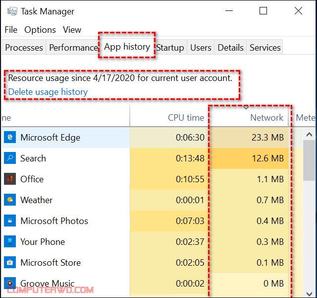 كيفية مراقبة إستهلاك باقة الإنترنت على الكمبيوتر 2