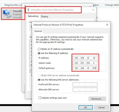 Konfigurasi IP Address pada Client