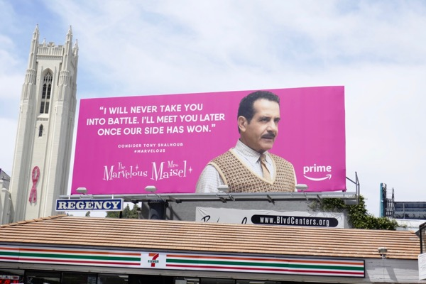 Mrs Maisel Tony Shalhoub Emmy FYC billboard
