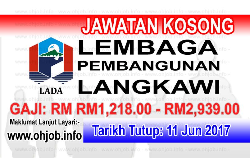 Jawatan Kerja Kosong Lembaga Pembangunan Langkawi - LADA logo www.ohjob.info jun 2017