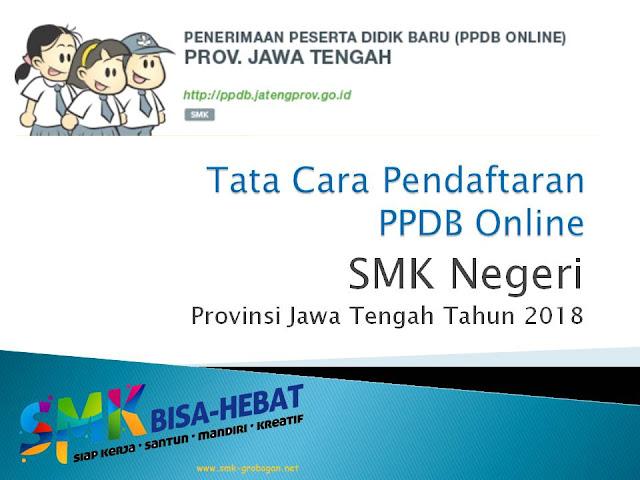 Tata Cara Pendaftaran PPDB Online SMK Negeri Tahun 2018