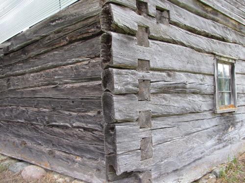 log corner