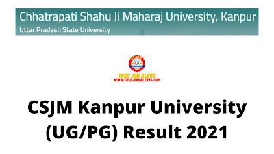 Sarkari Result: CSJM Kanpur University (UG/PG) Result 2021