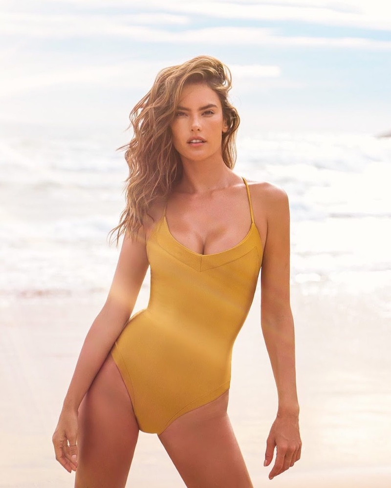 Alessandra Ambrosio poses for the Gal Floripa Yantra Swim Campaign 2020