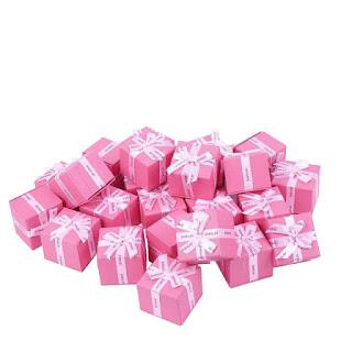 """Коробкаювелирная, под кольцои серьги, подарочная """"Jewelry розовая""""box14"""