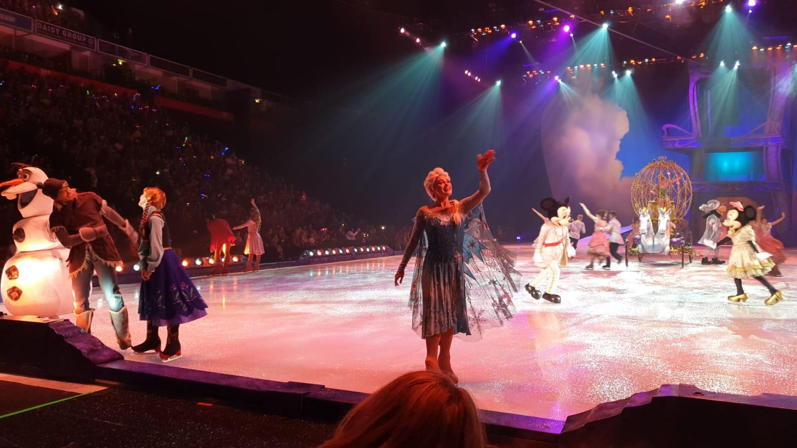 Elsa and Anna on ice
