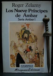 Portada del libro Los nueve príncipes de Ámbar, de Roger Zelazny