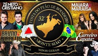 Agenda Shows 2017 Festa Peão de Monte Sião MG