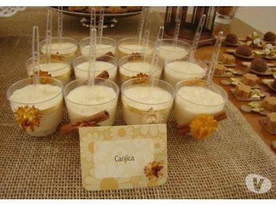 canjica doce mungunza sobremesa lanche festa junina junino coco canela amendoim como servir dica gourmet elegante copo mesa