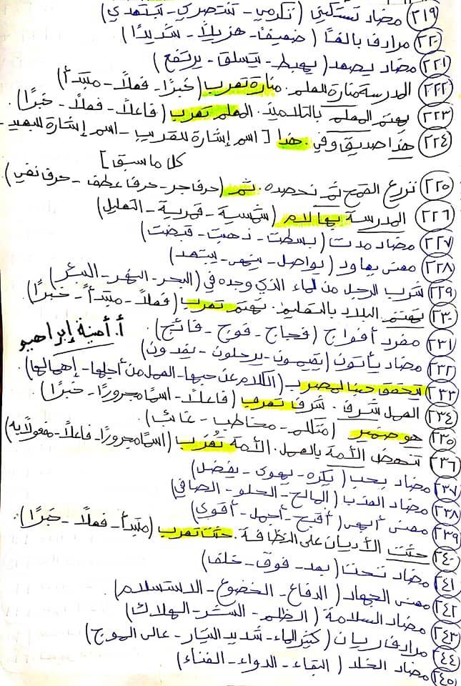 336 سؤال اختيار من متعدد للصف الرابع الابتدائي يشمل كل أجزاء المنهج قراءة ونصوص ونحو ومواطن جمالية 11