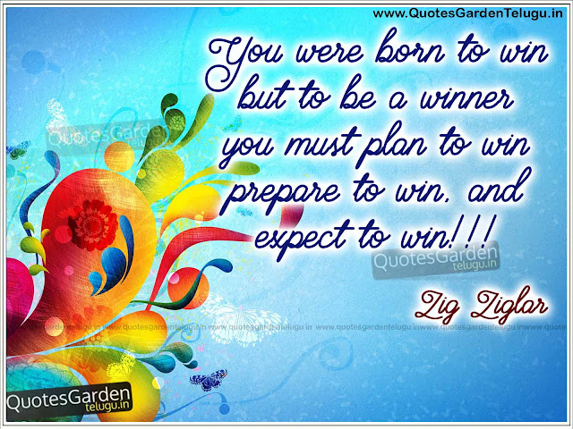 Best Thoughts of Zig Ziglar - Motivational Quotes about Win and planning