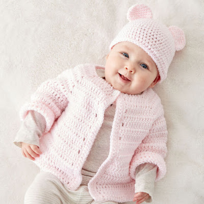 Crochet baby cardigan free pattern download and print
