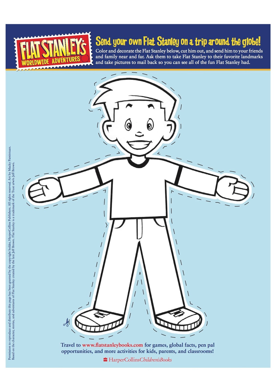 click the link below to print out your own flat stanley to colour jpg 1130x1600 flat [ 1130 x 1600 Pixel ]