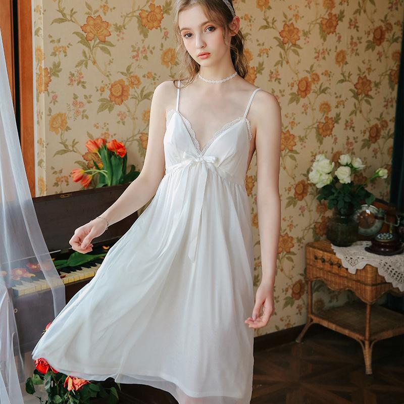 Váy ngủ tiểu thư dễ thương nhẹ nhàng 2