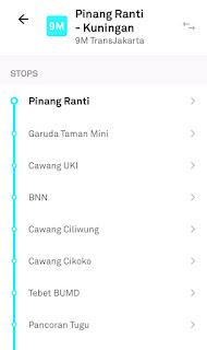 Halte Rute Baru Transjakarta Pinang Ranti-Kuningan
