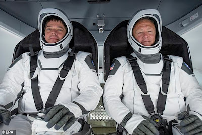 NASA astronauts Bob Behnken Doug Hurley will be blasting off in the rocket spacex launch live uk