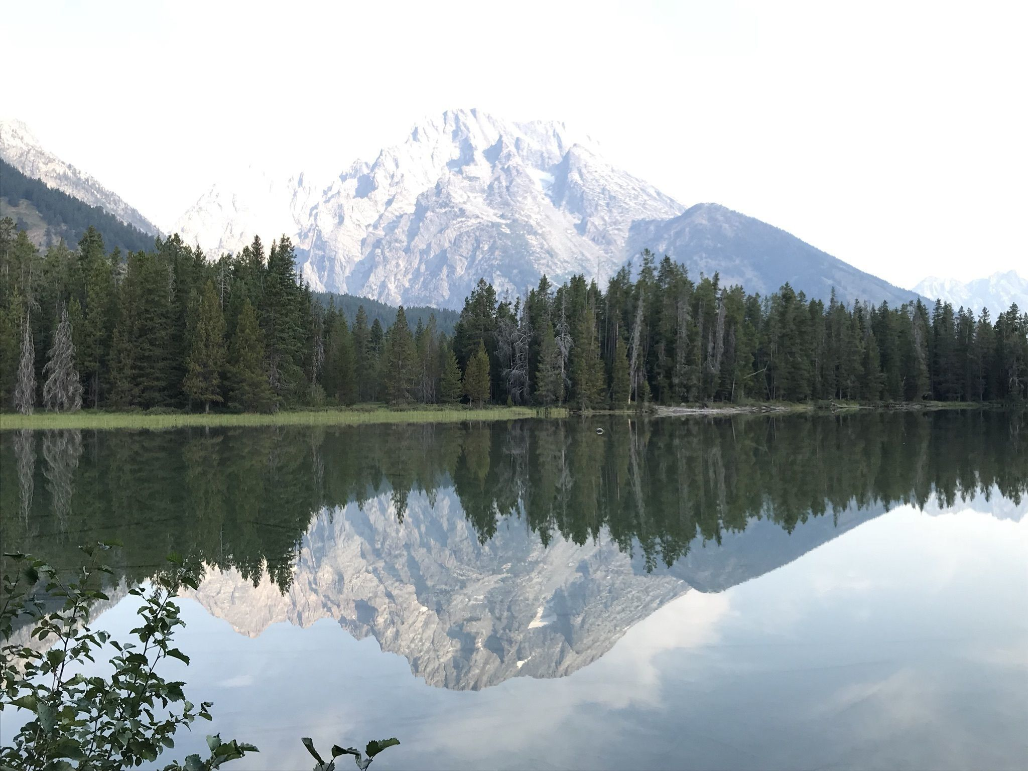 Струнное озеро в парке Гранд Титон