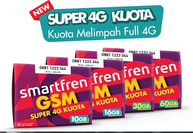 Harga dan Rincian Voucher Smartfren Super 4G Kuota