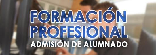 Convocatoria de admisión a Ciclos de Grado Medio y Superior