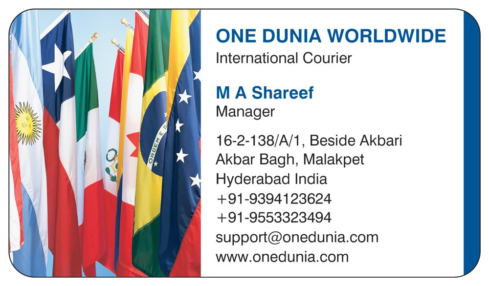 International Courier Services Hyderabad: Low Cost