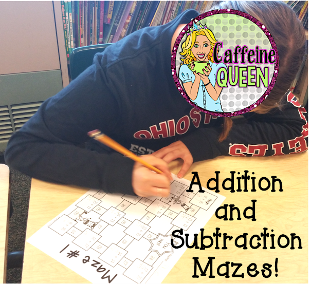 Addition and Subtraction Mazes - With and Without Regrouping!