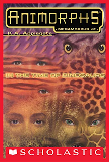 Six pairs of eyes (four human, one hawk, one Andalite) are superimposed against animal skin textures