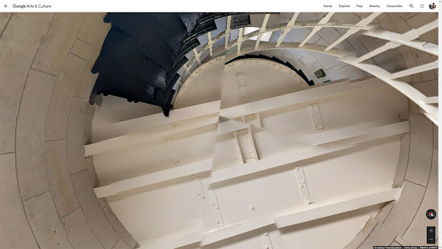 Macquarie Lighthouse Stairs (with errors) Looking Up - By Google Maps