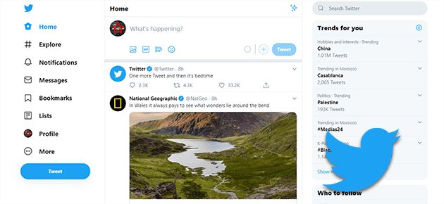 ترتيب افضل 10 مواقع التواصل الإجتماعي - تويتر
