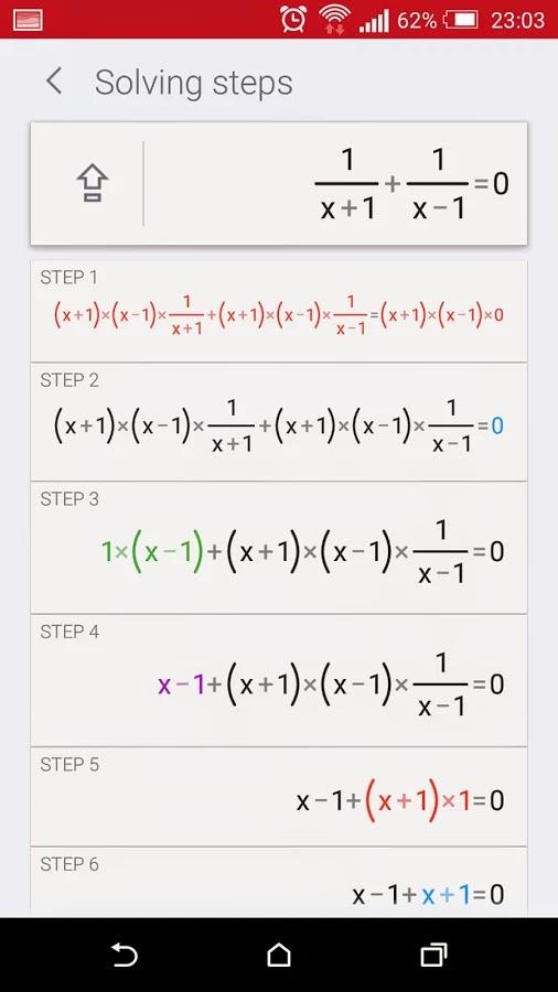 PhotoMath penyelesaian soal