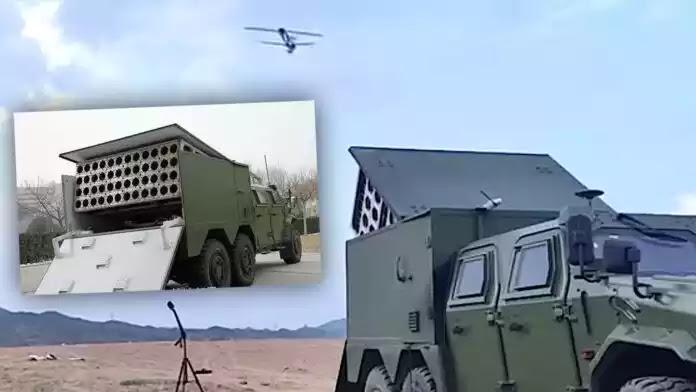 Η Κίνα παρουσίασε τεχνολογία εκτόξευσης σμήνους drone από εκτοξευτή σε φορτηγό (vid)