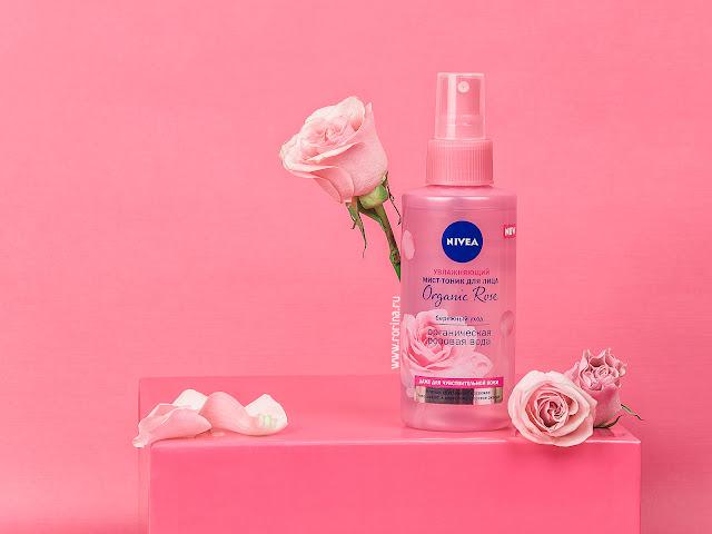 Увлажняющий мист-тоник для лица Nivea Organic Rose: отзывы с фото