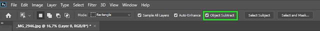 Object Subtract for Object Selection Tool in Photoshop