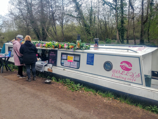 Molly's floating cafe on the Grand Union Canal