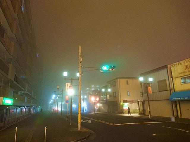 志津駅 濃霧