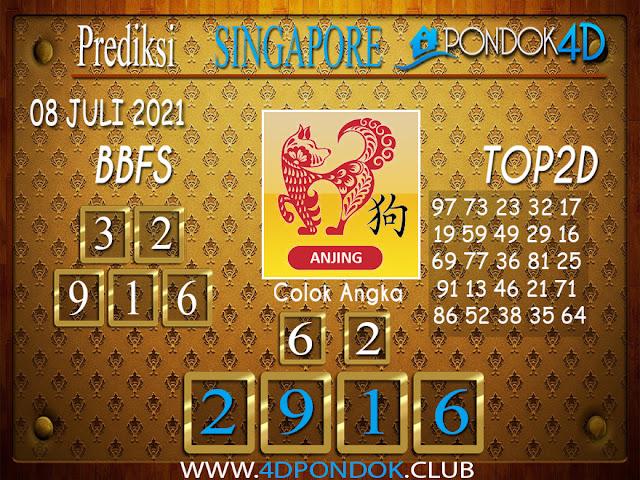 Prediksi Togel SINGAPORE PONDOK4D 08 JULI 2021