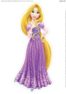 Centro de Mesa de Rapunzel para Imprimir Gratis.