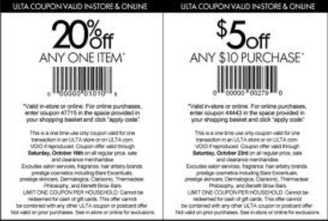picture regarding Ulta 5 Off 10 Printable Coupons identify Ulta Splendor Printable Coupon codes March 2015