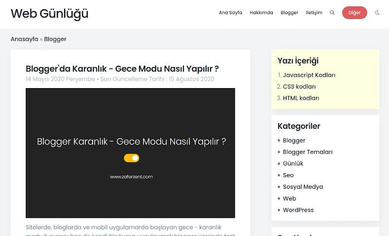Blogger Otomatik İçindekiler Tablosu Nasıl Yapılır ?