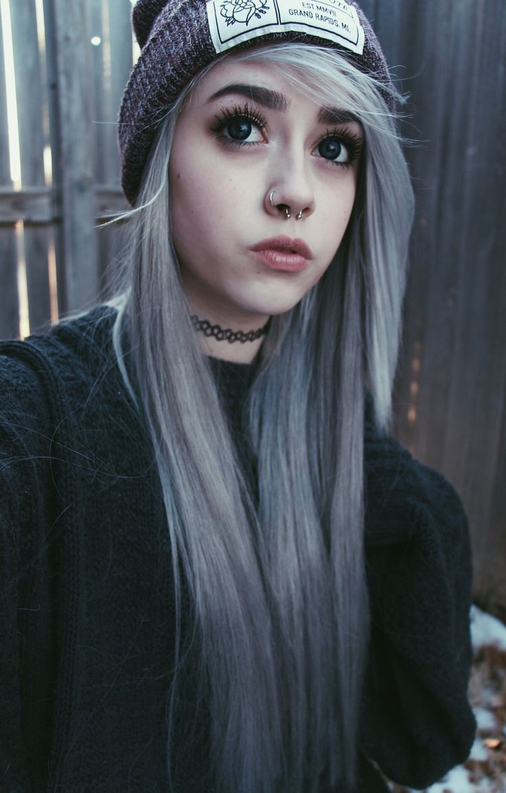 Girls With Light Purple Hair Tumblr Pastel goth hairstyles...