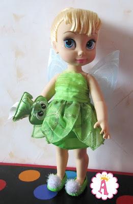 Кукла Динь с приклеенной головой