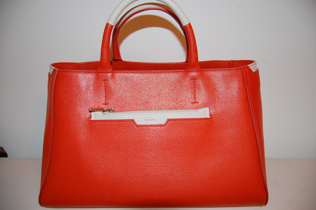 Orange Furla Diamante Tote