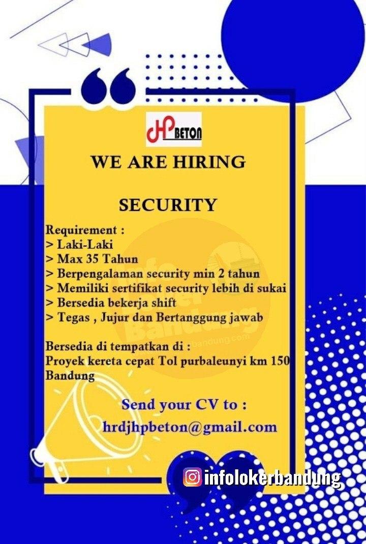 Lowongan Kerja PT. JHP Beton Bandung Februari 2020